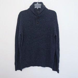 ✨ J. Crew Men's lambswool shawl collar pullover ✨